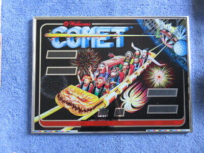 WILLIAMS COMET PINBALL MACHINE BACK GLASS-ORIGINAL-PRO FRAMED-EXC COND-1 MILLION