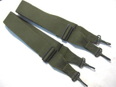 Vietnam Era US Army/USMC Canvas Utility Strap Set w/Snap Hooks - Unissued