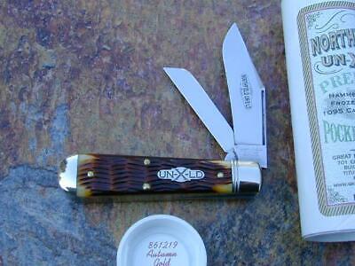 GREAT EASTERN GEC NORTHFIELD AUTUMN BONE OIL FIELD JACK KNIFE 1/499 MIT 861219