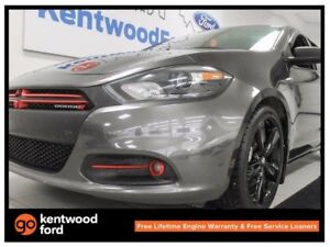 2014 Dodge Dart SXT 2.4L with sunroof, leather seats and a back