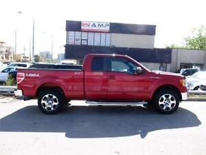"2009 Ford F-150 Lariat 4x4 leather 5.4l 20"" wheels chrome clean."
