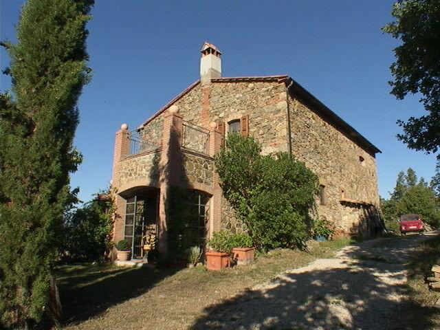 Künstleranwesen Nähe Massa Marittima, absolute Alleinlage! Haus in der Toskana
