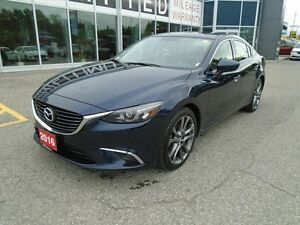 2016 Mazda Mazda6 **SUNROOF, GPS, LEATHER AND BOSE!** LOADED GT
