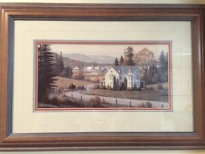"""SET OF 2 BILL SAUNDERS - 18"""" x 24 - PERFECT CONDITION"""