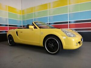 2003 Toyota Mr2 ZZW30R Spyder Yellow 6 Speed Sequential Manual Convertible Wangara Wanneroo Area Preview