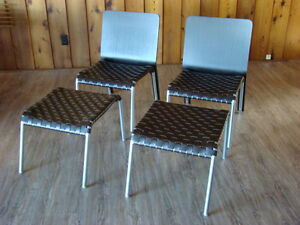 Two Chairs with Ottomans from Scan Design Furniture Co $250 each