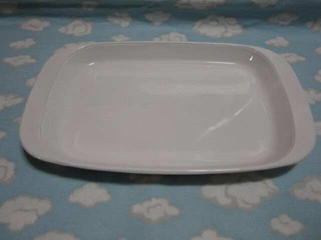 CORNING/CORELLE=WINTER FROST WHITE MICROWAVE BROWNING GRILL=NICE !!