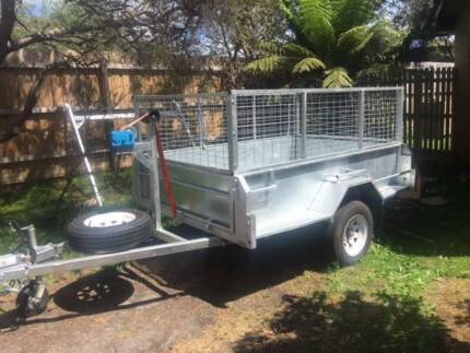 7ft x 5ft Galvanished cage Tilt Trailer