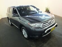 2011 Toyota Kluger GSU40R MY11 Upgrade KX-R (FWD) 5 Seat Graphite 5 Speed Automatic Wagon Clemton Park Canterbury Area Preview
