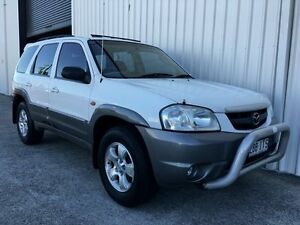 2005 Mazda Tribute MY2004 Classic White 4 Speed Automatic Wagon Parkwood Gold Coast City Preview