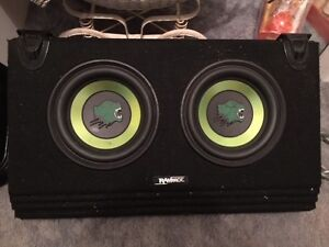 """Sub woofers twin 10 inch """"Rampage"""" subs Amp & wiring harness Redcliffe Belmont Area Preview"""