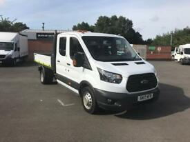 Ford Transit 2.0 Tdci 130Ps DOUBLE CAB H2 TIPPER DIESEL MANUAL WHITE (2017)