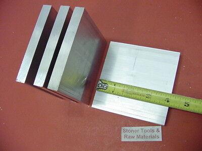 4 Pieces 38 X 4 Aluminum 6061 Flat Bar 4 Long T6511 .375 Plate Mill Stock