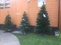 Brand New Ex Demo Fibre Optic Christmas Trees From Only £5 - New Tags - 11 Total