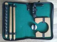 Cased croquet practice set