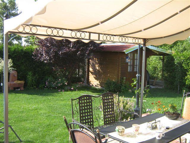 terrassen berdachung pergola feststehende markise terrassenpavillon 3m x2 5m eur 269 00. Black Bedroom Furniture Sets. Home Design Ideas