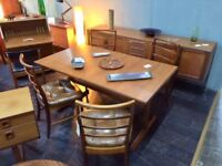 Extending Table with 4 Chairs by McIntosh of Kirkcaldy. Retro Vintage.