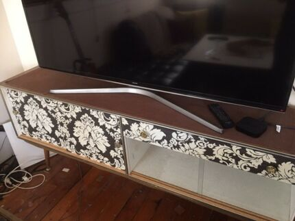 Retro glass display or TV cabinet