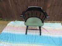 solid oak captain chairs