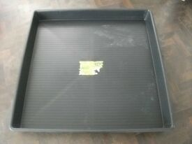Garden Tray . Made of plastic . Size :1.2m by 1.2m and 12cm high