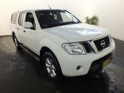 2012 Nissan Navara D40 MY12 ST (4x4) White 5 Speed Automatic Dual Cab Utility Clemton Park Canterbury Area Preview