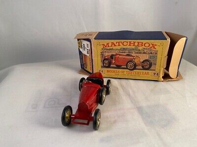 Matchbox Y-6 Type 35 Bugatti ALL RED RADIATOR (No Gold Trim) Rare HTF MB