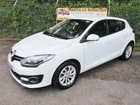 Renault Megane 1.5 dCi Dynamique TomTom Energy 5dr (white) 2014