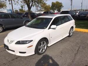 2004 MAZDA 6 GRAND TOURING/LOW KMS/LEATHER/SUNROOF/ALLOYS!