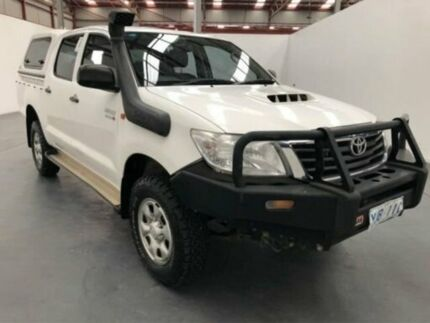 2012 Toyota Hilux KUN26R MY12 SR (4x4) White 5 Speed Manual Dual Cab Pick-up Fyshwick South Canberra Preview