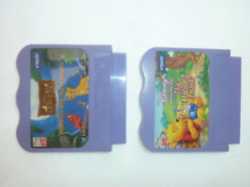 2x V tech V smile GAME CARTRIDGES Simba's Big Adventure & Winnie the Pooh The Honey Hunt