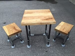 Ash table and stools