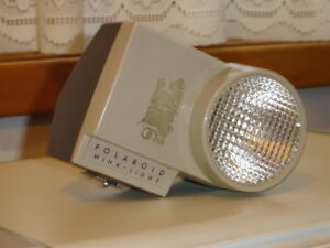 "Vintage Polaroid-Brand ""Wink-Light"" Camera Flash Unit"