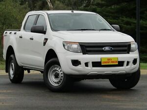2013 Ford Ranger PX XL Double Cab 4x2 Hi-Rider White 6 Speed Sports Automatic Utility Strathalbyn Alexandrina Area Preview