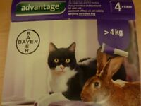 Advantage Flea Treatment For Large Cats and Rabbits 3 X 80 ml Pipettes