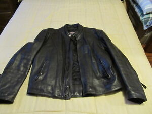 Male Motorcycle leather jacket, chaps and boots