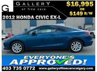 2012 Honda Civic EX-L $149 bi-weekly APPLY NOW DRIVE NOW