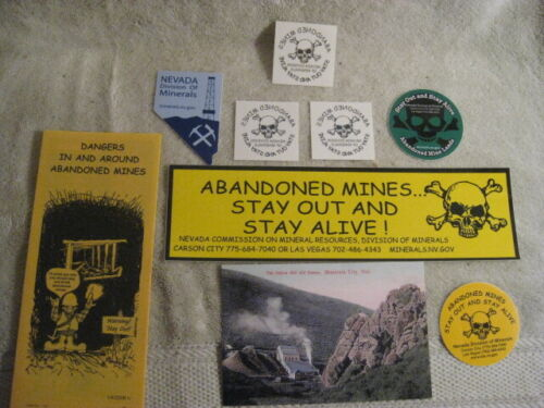 Nevada mining stickers-  Safety Souvenirs- Brochure-tattoo