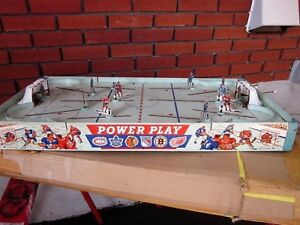 Vintage Jeu d'Hockey sur Table Power Play Eagle Toys