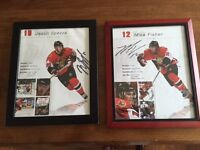 Autographed Spezza and Fischer