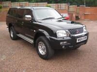 2004 04 Mitsubishi L200 2.5 TD Ltd Warrior Gleaming Black NO VAT!