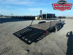 14K - 7 x 24 Equipment Hauler by Canada Trailers -*WIDE RAMPS!*-