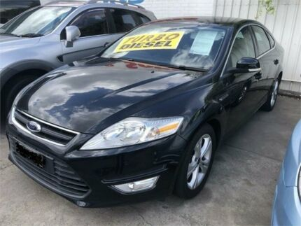 2010 Ford Mondeo MB Zetec Tdci Black 6 Speed Direct Shift Hatchback Granville Parramatta Area Preview