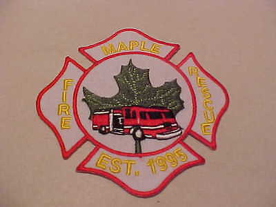 MAPLE CANADA  FIRE DEPARTMENT PATCH UNUSED
