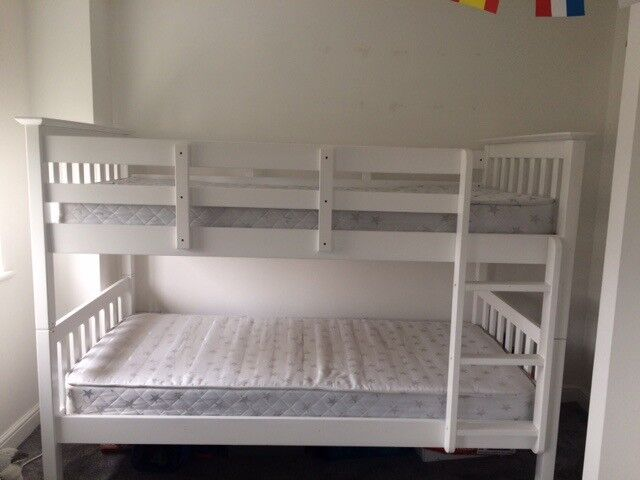 Next White Bunk Beds With Mattresses In Newton Le Willows