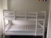 NEXT White Bunk Beds with Mattresses