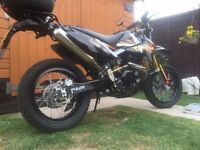 Supermoto Pulse Adrenaline 250cc Motorcycle - Only Done 150 Miles - 2016 - Full Service History