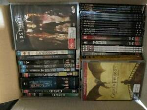 Almost as-new 6 Storage boxes of DVDs - TV Box Sets only galore!