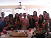 Wedding Shower, Bride Bachelorette COOKING CLASS PARTY