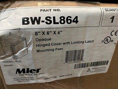 Mier Bw-sl864 8x6x4 Non-metal Latch-enclosure New