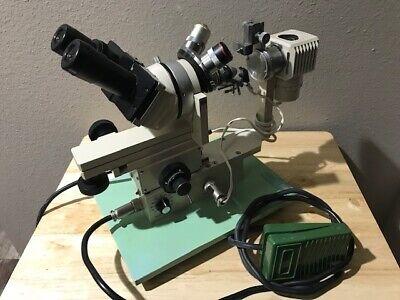 Narishige Microforge Mf-9 Microscope With Foot Switch Heater Good Shape